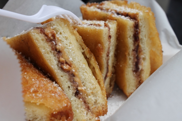 deep fried peanut butter and jelly sandwich