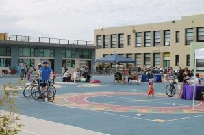 stage and children's run-around area