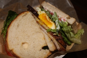 pork belly blt breakfast sandwich