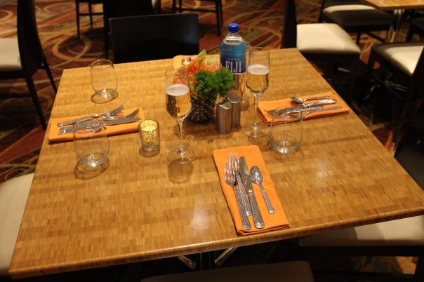 our empty table, pleading to be filled - and it will be